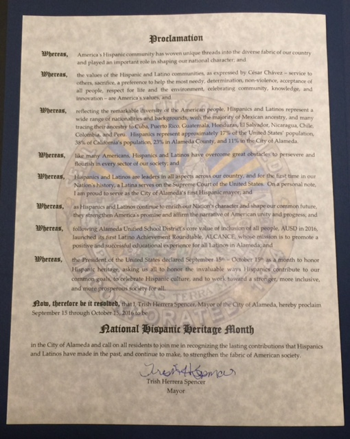 City Of Alameda Proclamation